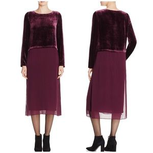 Eileen Fisher Velvet and Chiffon Duster Dress